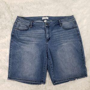 Lane Byrant Denim Bermuda Shorts Plus Sz 20